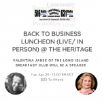 Back to Business Luncheon – April 20th